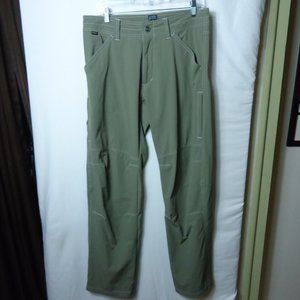 Kuhl Moss Green Outdoor Nylon Pants Size 32/32